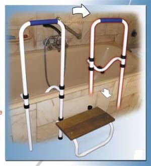 marche pieds cadre d 39 appui reglable pour baignoire neuf ebay. Black Bedroom Furniture Sets. Home Design Ideas
