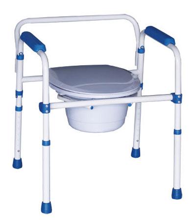 chaise perc e pliante avec couvercle rehausse wc cadre de maintien ebay. Black Bedroom Furniture Sets. Home Design Ideas