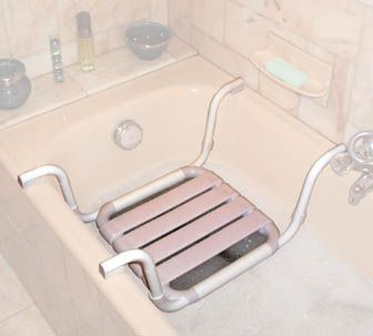 siege de bain suspendu anti corrosion r glable sur bords de baignoire 45 60 cm ebay. Black Bedroom Furniture Sets. Home Design Ideas