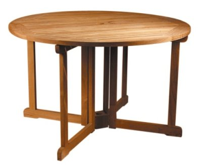 Table Ronde Teck : Table Console Ronde Pliante 120 Cm En Teck Massif Pictures